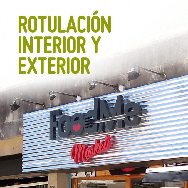 ROTULACIÓN INTERIOR Y EXTERIOR